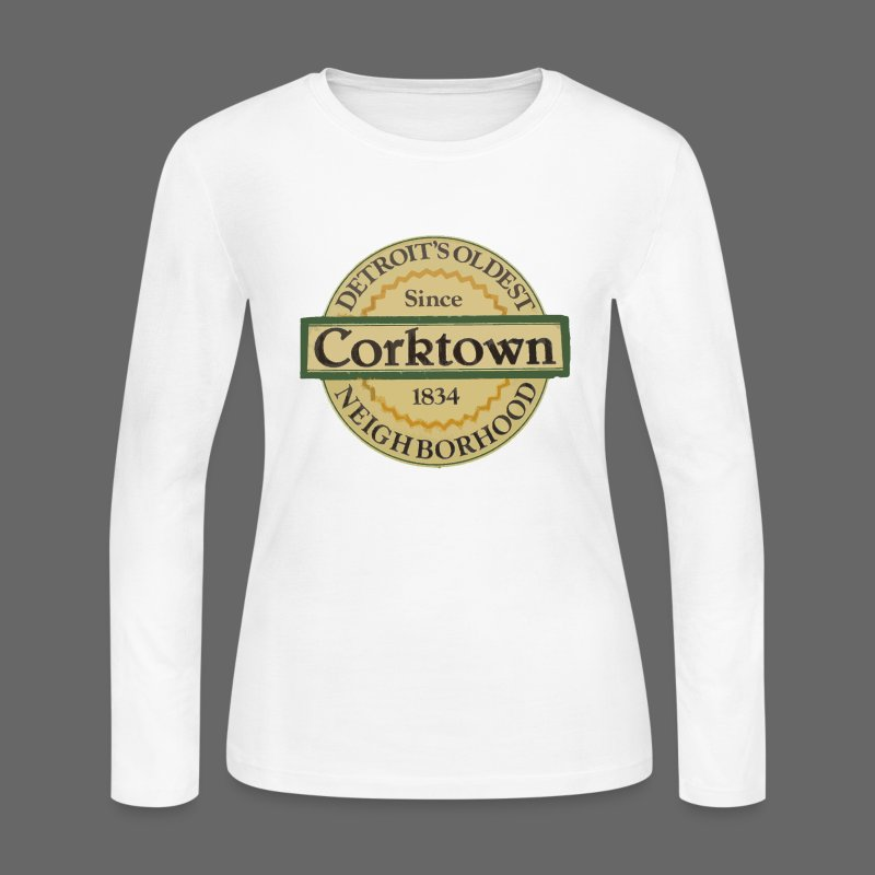 Corktown Women's Long Sleeve Jersey Tee - Women's Long Sleeve Jersey T-Shirt
