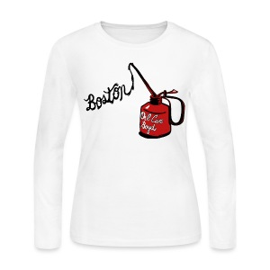 Boston Oil Can Boyd Women's Long Sleeve Jersey Tee - Women's Long Sleeve Jersey T-Shirt