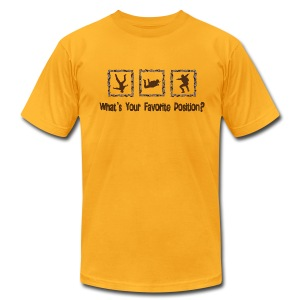 What's Your Favorite Position? Brown T-Shirts - Men's Fine Jersey T-Shirt