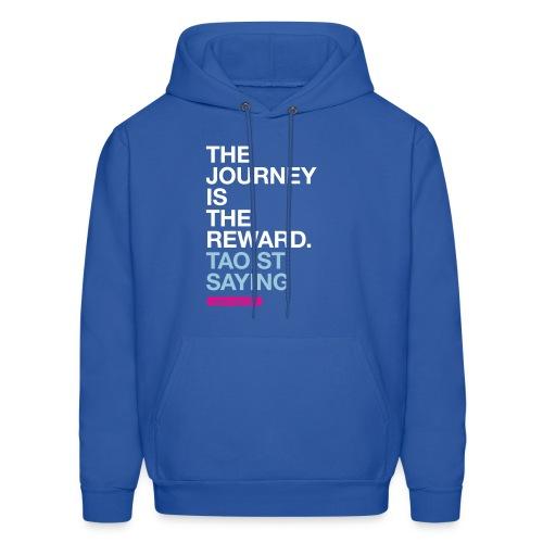 The journey is the reward. --Taoist saying men's hoodie in royal blue - Men's Hoodie