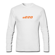 Long Sleeve Shirts ~ Men's Long Sleeve T-Shirt by Next Level ~ S220 / Simplify: American Apparel long-sleeve t-shirt- White w/ Orange