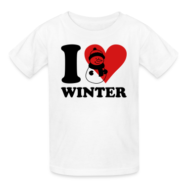 i love winter Kids' Shirts