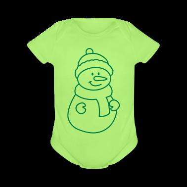 snowman Baby Bodysuits