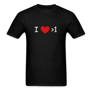 I (heart) more than 1 - Men's T-Shirt