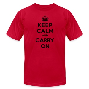 Keep Calm and Carry On Mens T-Shirt - Men's T-Shirt by American Apparel