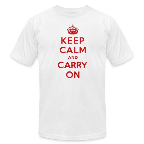 Keep Calm and Carry On Mens T-Shirt - Men's Fine Jersey T-Shirt