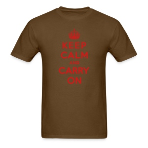 Keep Calm and Carry On Mens T-Shirt - Men's T-Shirt