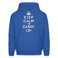 Hoodies ~ Men's Hoodie ~ Keep Calm and Carry On Mens Sweatshirt