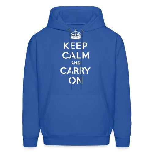 Keep Calm and Carry On Mens Sweatshirt - Men's Hoodie