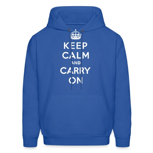 Keep Calm and Carry On Mens Sweatshirt - Men's Hoodie
