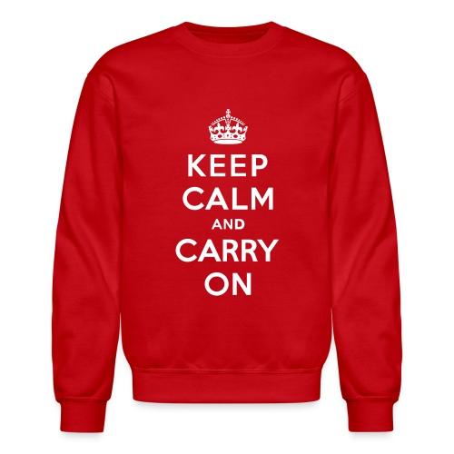 Keep Calm and Carry On Mens Sweatshirt - Crewneck Sweatshirt