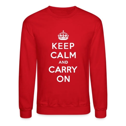 Keep Calm and Carry On Mens Sweatshirt - Crewneck Sweatshirt
