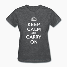 Keep Calm and Carry On (vector) Women's T-Shirts