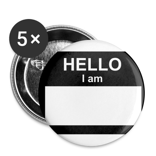 Hello I am - Buttons large 2.2'' (5-pack)