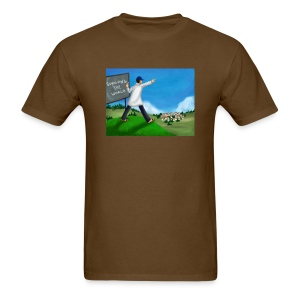 Chalkboard On A Hill (Men's) - Men's T-Shirt