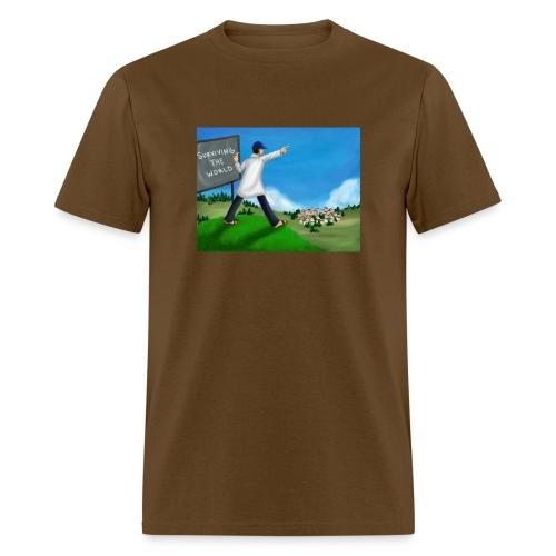 Chalkboard On A Hill (Men's) - Men's T-Shirt