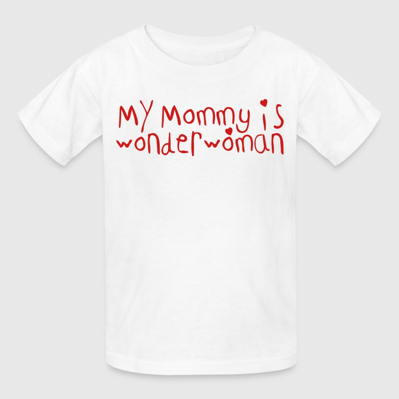 my mommy is wonderwoman Kids' Shirts - Kids' T-Shirt