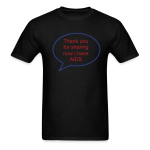 Thanx 4 sharing - Men's T-Shirt