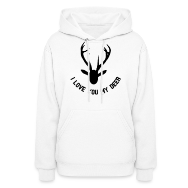 i love you my deer Hoodies