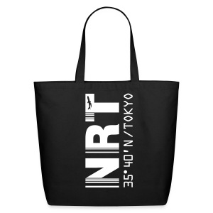 Tokyo airport code Japan NRT black tote / beach  bag - Eco-Friendly Cotton Tote