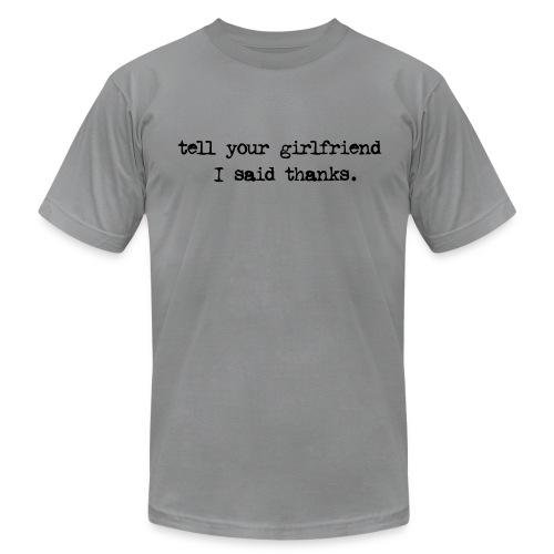 Gray MEN'S shirt - Men's Fine Jersey T-Shirt