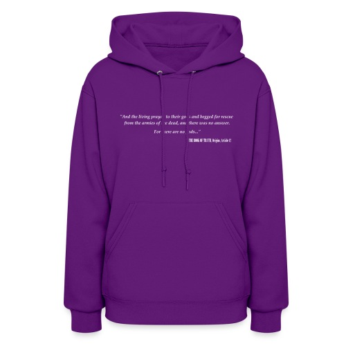 women's hoodie white print - Women's Hoodie