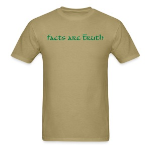 men's heavyweight T hunter green print - Men's T-Shirt