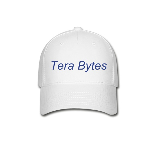 Tera's Team 'Tera Bytes' Hat - White with Royal Blue Lettering - Baseball Cap