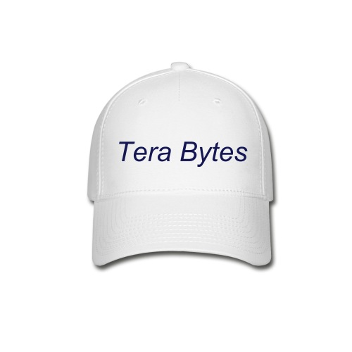 Tera's Team 'Tera Bytes' Hat - White with Navy Blue Lettering - Baseball Cap