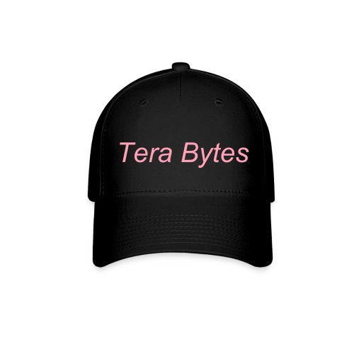 Tera's Team 'Tera Bytes' Hat - White with Pink Lettering - Baseball Cap