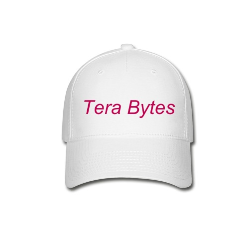 Tera's Team 'Tera Bytes' Hat - White with Magenta Lettering - Baseball Cap