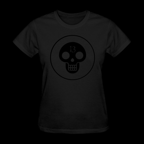 black skull - Women's T-Shirt