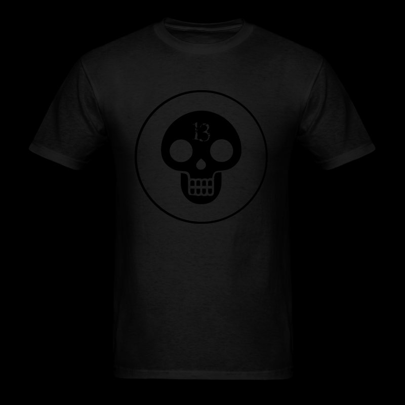 black skull - Men's T-Shirt