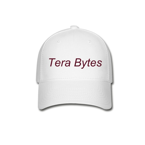 Tera's Team 'Tera Bytes' Hat - White with Maroon Lettering - Baseball Cap