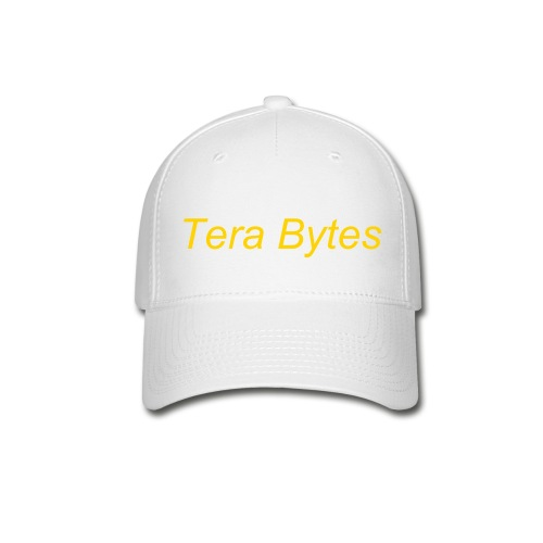 Tera's Team 'Tera Bytes' Hat - White with Gold Lettering - Baseball Cap
