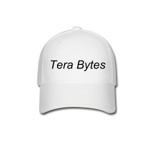 Tera's Team 'Tera Bytes' Hat - White with Black Lettering - Baseball Cap