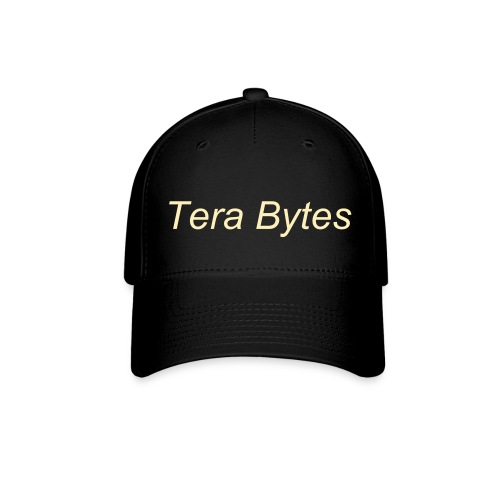 Tera's Team 'Tera Bytes' Hat - Black with Cream Lettering - Baseball Cap