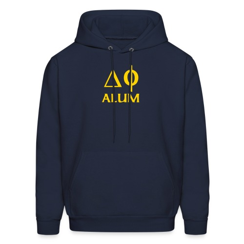 Navy Hooded Swtsht with Gold - Men's Hoodie