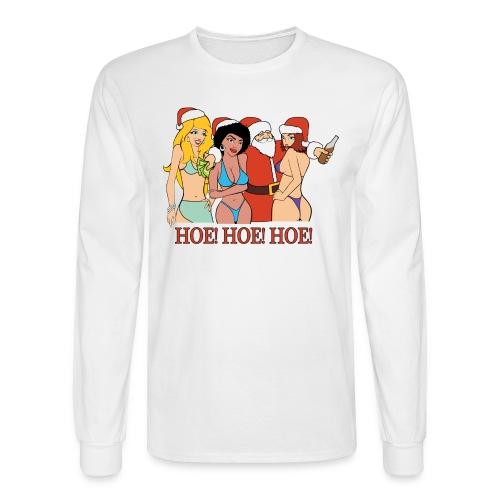 HOE! HOE! HOE! (Men) - Men's Long Sleeve T-Shirt