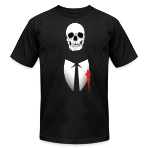 Skull Suit - Men's T-Shirt by American Apparel