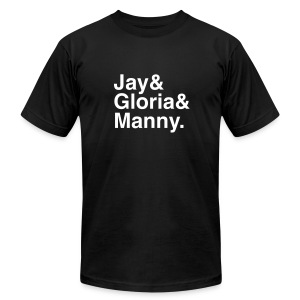 Modern Family - Jay Gloria Manny - Men's T-Shirt by American Apparel