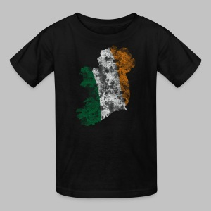 Distressed Irish Flag on Map Children's T-Shirt - Kids' T-Shirt