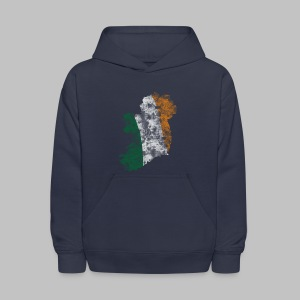 Distressed Irish Flag on Map Kid's Hooded Sweatshirt - Kids' Hoodie