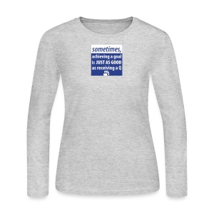 Achieving A Goal - Women's Long Sleeve Jersey T-Shirt