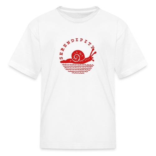 snail children's red logo on white - Kids' T-Shirt