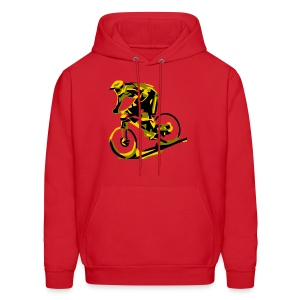 DH Freak - Mountain Bike Hoodie Red - Men's Hoodie