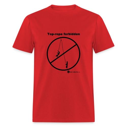 Climbing T-shirt - Toprope Forbidden - Red - Men's T-Shirt