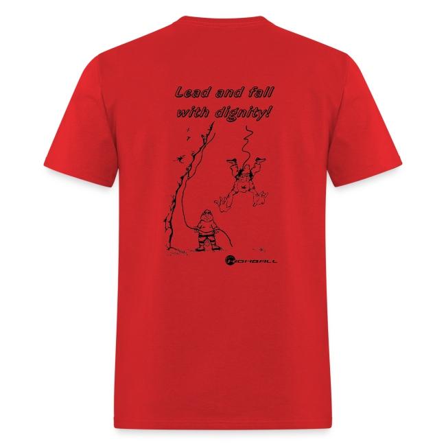 Climbing T-shirt - Toprope Forbidden - Red