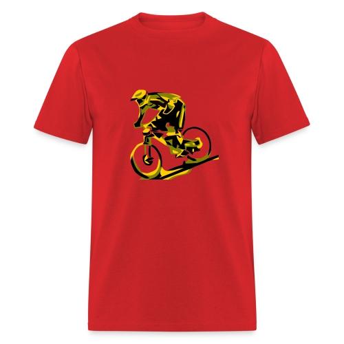 MTB Shirt - DH Freak - Mountain Bike Rider - Red - Men's T-Shirt