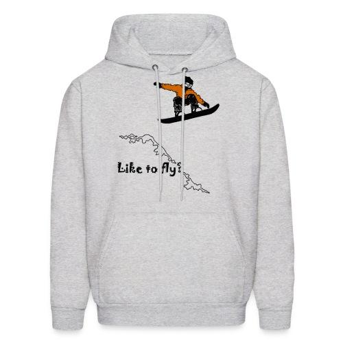 Snowboarding Hoodie - Like To Fly? - Men's Hoodie